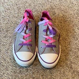 New Converse grey pink & purple sneaker shoes sz 4